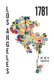 Los Angeles Giclee Print by  J Hill Design