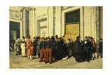 Entrance Hall of Santa Maria Maggiore, Ca 1865 Giclee Print by Michele Cammarano