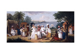 A Negro's Dance in the Island of Dominica, Fort Young Beyond Giclee Print by Agostino Brunias