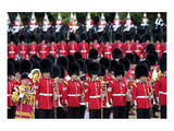 The Queen's Annual Birthday Parade Trooping the Colour, Horse Guards Parade at Whitehall, London Print