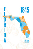 Florida Giclee Print by  J Hill Design