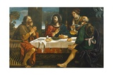 Supper at Emmaus Giclee Print by Giovanni Francesco Barbieri