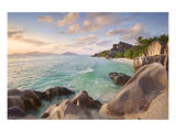 Anse Source d'Argent beach, La Digue Island, Seychelles Print