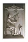 Funerary Stele of Ottavio Trento Giclee Print by Antonio Canova