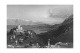 Djebel Sheich and Mount Hermon, from the Top of Lebanon Giclee Print by William Henry Bartlett