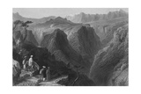 Scene in Mount Lebanon, Above the Valley of the Kadesha, or Holy Valley Giclee Print by William Henry Bartlett