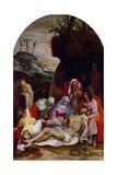 Descendimiento de la cruz Lámina giclée por Pieter De Witte