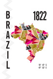Brazil Giclee Print by  J Hill Design