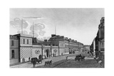 View of the Bank of France from the Rue Croix-Des-Petits-Champs, 1800 Giclee Print by Henri Courvoisier-Voisin