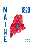 Maine Giclee Print by  J Hill Design