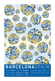 Barcelona Spain Giclee Print by  J Hill Design