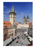 City Hall and Church of Our Lady Before Tyn on Old Town Square in Prague, Czech Republic Prints