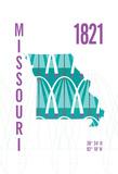 Missouri Giclee Print by  J Hill Design