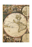 Nova Orbis Tabula in Lucem Edita by Frederik De Wit Giclee Print by Frederick de Wit