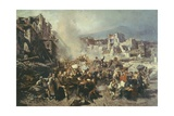 Earthquake in Torre Del Greco Giclee Print by Michele Cammarano