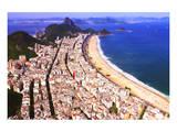 View of Copacabana Beach with Sugarloaf Mountain (404m), Rio de Janeiro, Brazil Pôsteres