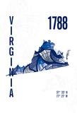 Virginia Giclee Print by  J Hill Design