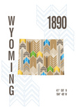 Wyoming Giclee Print by  J Hill Design