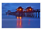 Pier on the Beach of Naples on the Gulf Coast, Florida, USA Posters