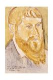 Portrait of Paul Serusier; Portrait De Paul Serusier, 1893 Giclee Print by Emile Bernard
