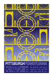 Pittsburgh Pennsylvania Giclee Print by  J Hill Design
