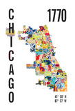 Chicago Giclee Print by  J Hill Design