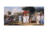 Mulatto Women on the Banks of the River Roseau, Dominica Giclee Print by Agostino Brunias