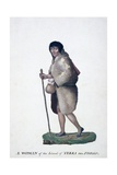 Woman from Tierra Del Fuego Giclee Print by Alexander Buchan