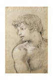 Figure of Young Man Study for Golden Age Giclee Print by Pietro da Cortona