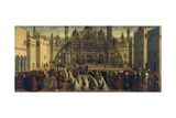 St Mark Preaching in Alexandria, Egypt, 1504-1507 Giclée-tryk af Gentile Bellini