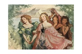 Come, and Trip it as You Go, on the Light Fantastic Toe Giclee Print by Robert Anning Bell