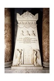 Cenotaph, 1817-1819, White Marble Stele Giclee Print by Antonio Canova