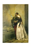 Visiting the Tomb of Romeo and Juliet, 1861-1862 Giclee Print by Tranquillo Cremona
