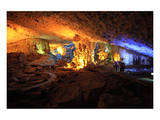 In the Cave of Awe Hang Sung Sot Grotto in Ha Long Bay, North Vietnam, Quang Ninh, Vietnam Print