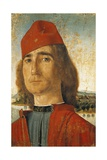 Portrait of Man with Red Cap Giclée-tryk af Vittore Carpaccio
