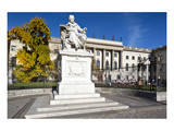 Monument of Wilhelm von Humboldt in front of Humboldt University, Unter den Linden, Berlin, Germany Art