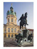 Equestrian sculpture of Friedrich Wilhelm I in the Court of Honour of Charlottenburg Palace Poster