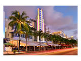 Breakwater Hotel on Ocean Drive in the Art Deco District of South Miami Beach in Miami Poster