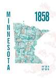 Minnesota Giclee Print by  J Hill Design