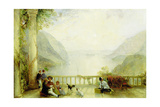 Figures on a Balcony, Probably at Westpoint, C.1840-45 Giclee Print by Thomas Creswick
