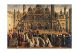 St Mark Preaching in Alexandria, Egypt Giclée-tryk af Gentile Bellini