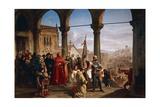 Dedication of Trieste to Austria Giclee Print by Cesare Dell'acqua