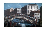 Battle with Sticks on Santa Fosca Bridge Giclee Print by Gabriele Bella