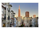 View from the Urban District of North Beach towards Transamerica Pyramid, San Francisco Posters