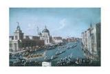 Women's Regatta on Grand Canal in Venice Giclee Print by Gabriel Bella