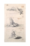 Female Figure in Three Different Positions Giclee Print by Antonio Canova