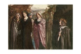 Come Pensive Nun, Devout and Pure, Sober, Steadfast, and Demure Giclee Print by Robert Anning Bell