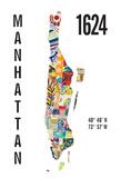 Manhattan Giclee Print by  J Hill Design