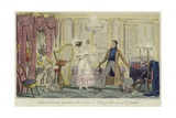 Corinthian Kate's Residence - Unexpected Arrival of Tom! Giclee Print by Isaac Robert Cruikshank