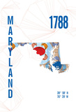 Maryland Giclee Print by  J Hill Design